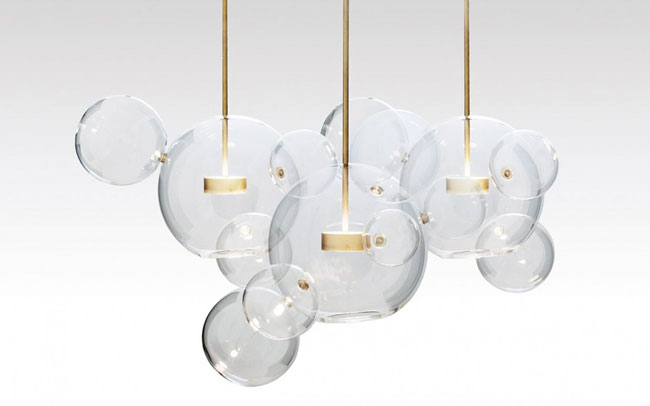 Luminaire design en verre for Luminaire suspension boule