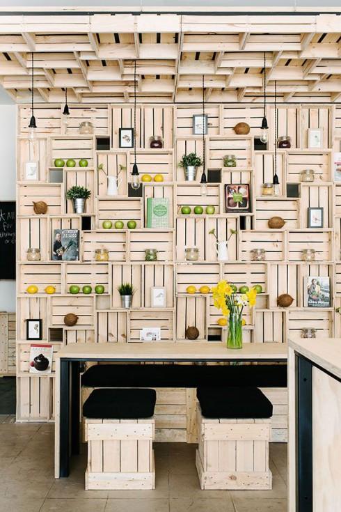 D coration et bois de palette for Deco en palette de bois
