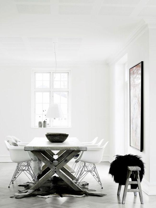 Salle manger en noir et blanc for Salle a manger blanc et noir