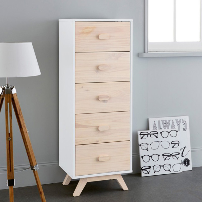 la redoute interieurs petite commode scandinave. Black Bedroom Furniture Sets. Home Design Ideas