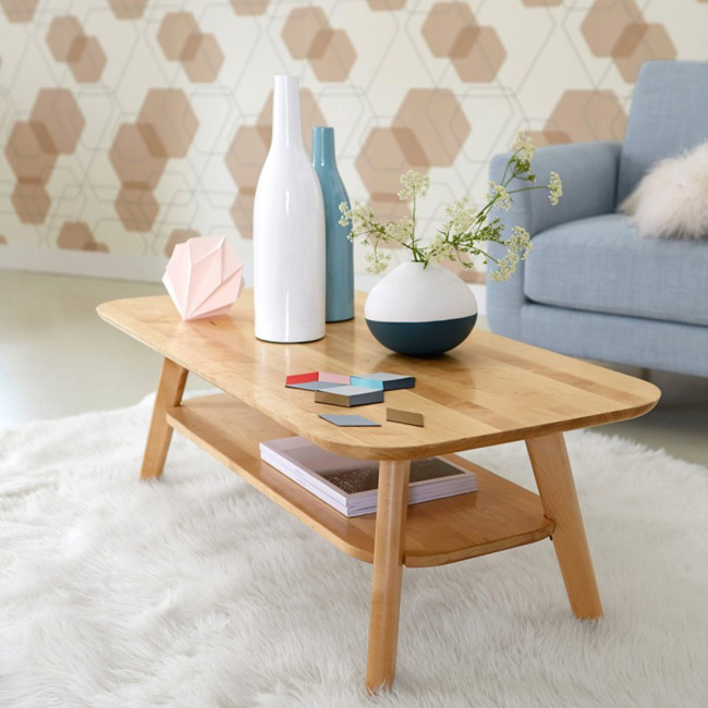 La redoute interieurs table basse scandinave - Table salon la redoute ...