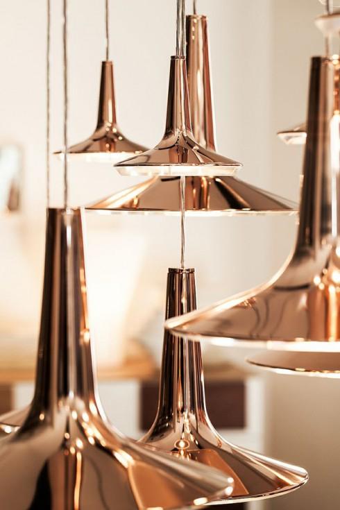 lampes design cuivre
