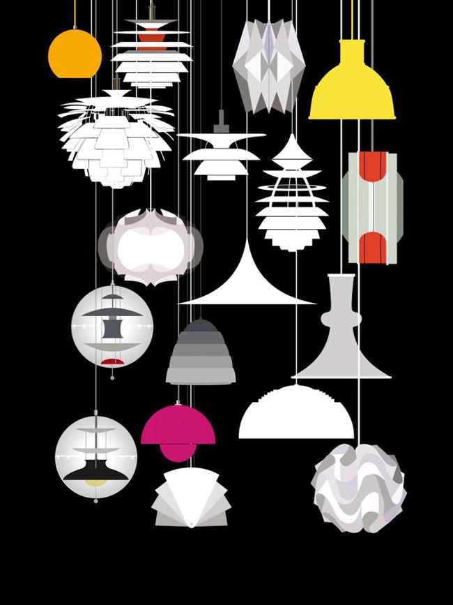 luminaire scandinave. Black Bedroom Furniture Sets. Home Design Ideas
