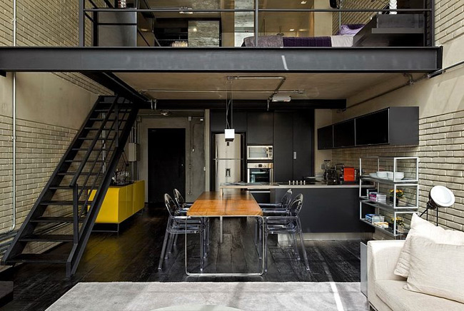Loft industriel et moderne 11 for Decoration loft