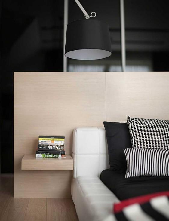 Decoration contemporaine noir et blanc avec couleur 20 562x735