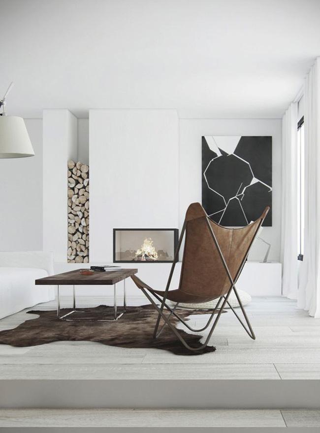 15 id es de chemin es ou po les bois for Ambientes minimalistas interiores
