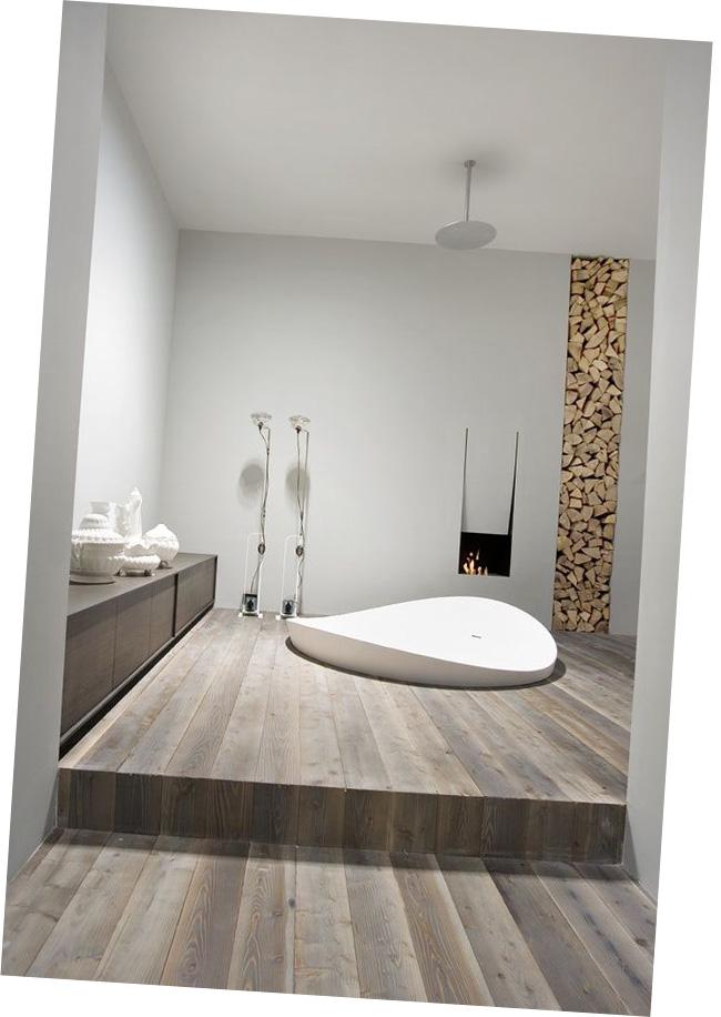 cheminee pour salle de bain