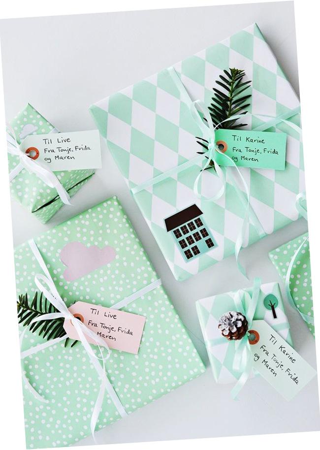 paquet cadeaux noel diy