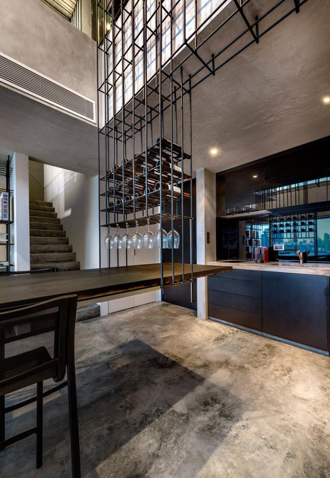 Appartement design cage cuisine