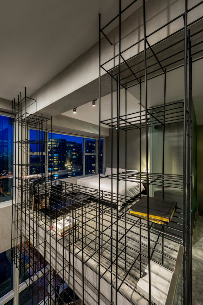 Appartement design cage garde corps