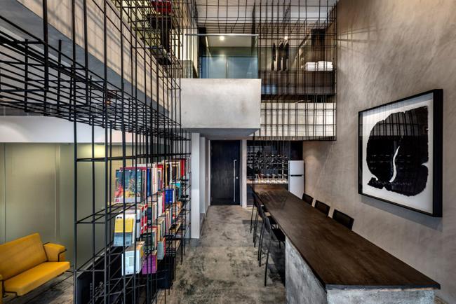Appartement design cage rangement