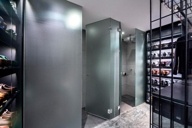 Appartement design cage salle de bain