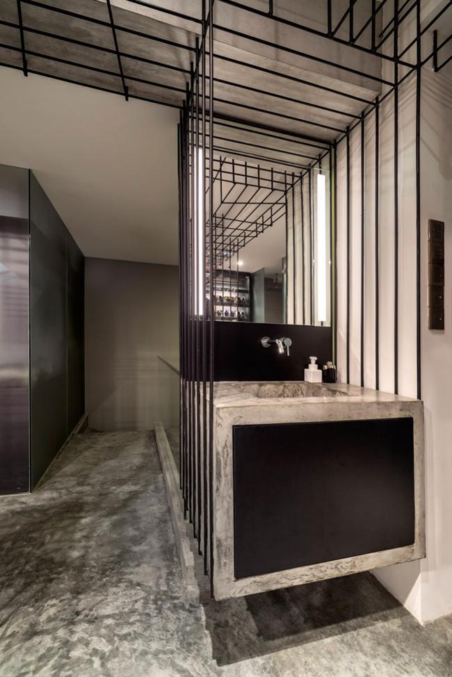 Appartement design rangement salle de bain