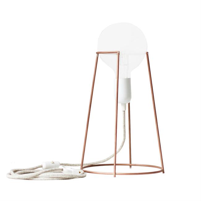 Lampe cuivre Agraffe ENO Studio