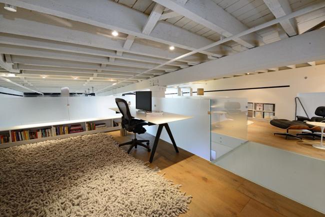 Loft new yorkais avec toit terrasse for Bureau style loft