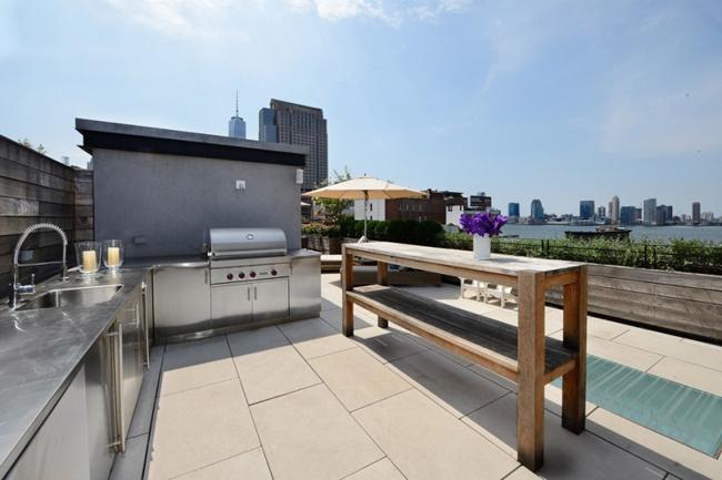 Loft new york cuisine sur terrasse
