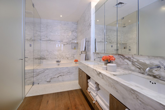 Loft new yorkais avec toit terrasse - Salle de bain loft new yorkais ...