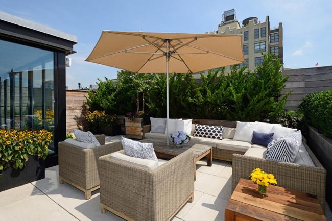 Loft new york terrasse avec vue
