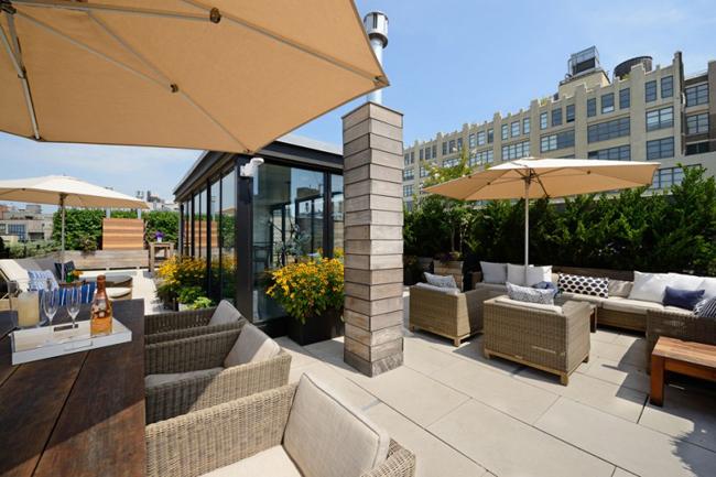 Loft new york terrasse deco