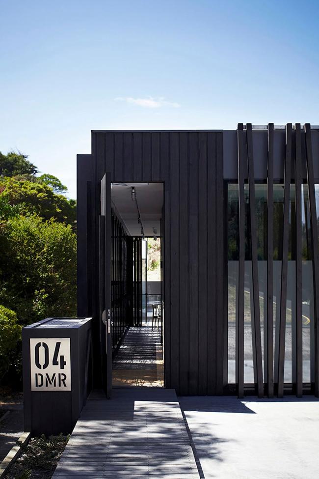 Maison contemporaine bois et béton ouverte sur l'extérieur # Maison Bois Et Beton