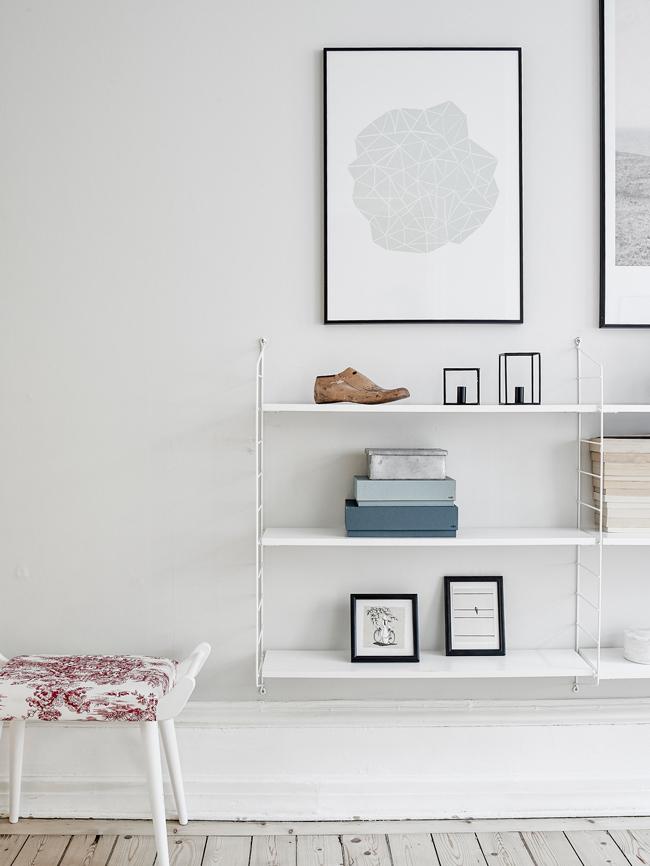 rangement mural style scandinave. Black Bedroom Furniture Sets. Home Design Ideas