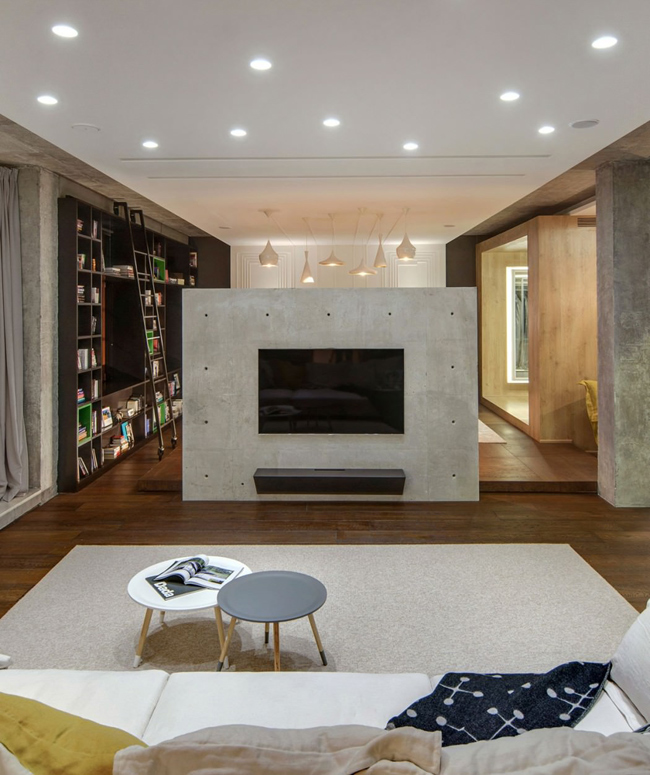 appartement contemporain esprit loft. Black Bedroom Furniture Sets. Home Design Ideas