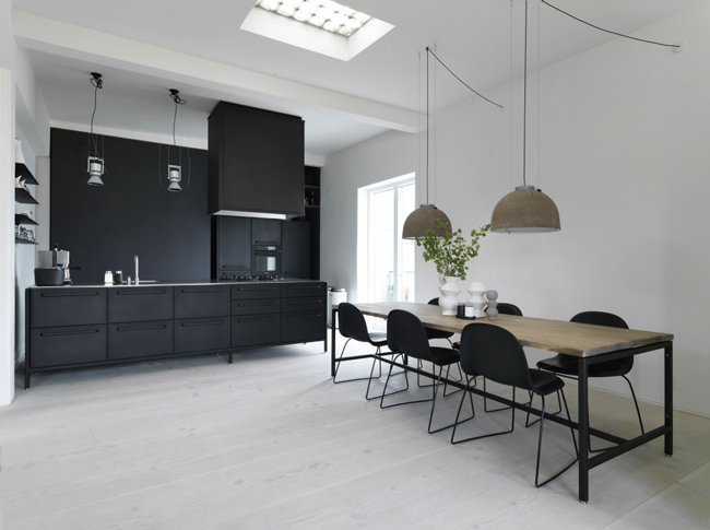 appartement scandinave industriel salle a manger. Black Bedroom Furniture Sets. Home Design Ideas