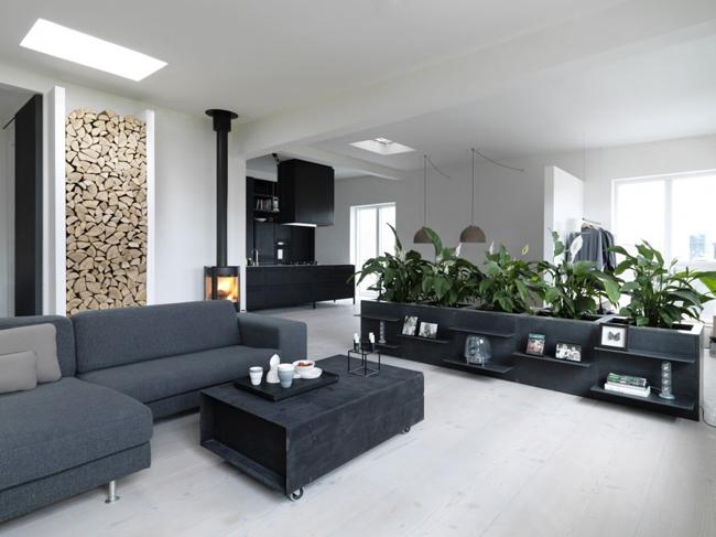 D coration scandinave avec une touche industrielle - Deco zwarte living ...