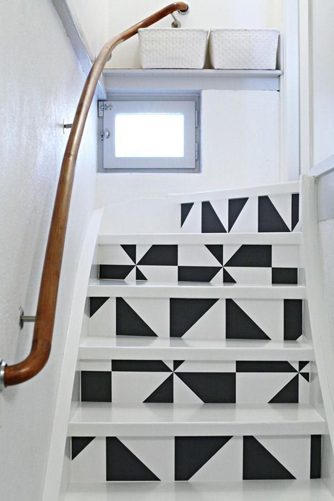 repeindre ses escaliers. Black Bedroom Furniture Sets. Home Design Ideas