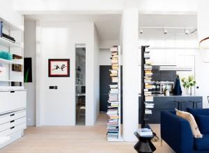 bibliotheque originale dans loft
