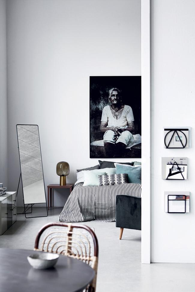 Chambre décorée avec du mobilier House Doctor