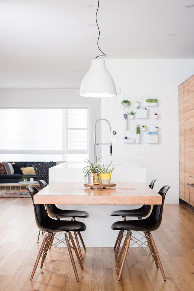 Cuisine moderne blanche et bois for Deco cuisine blanche et bois