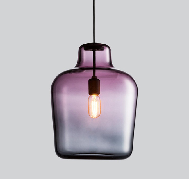 Luminaire design en verre color for Luminaire multi suspension colore enfant