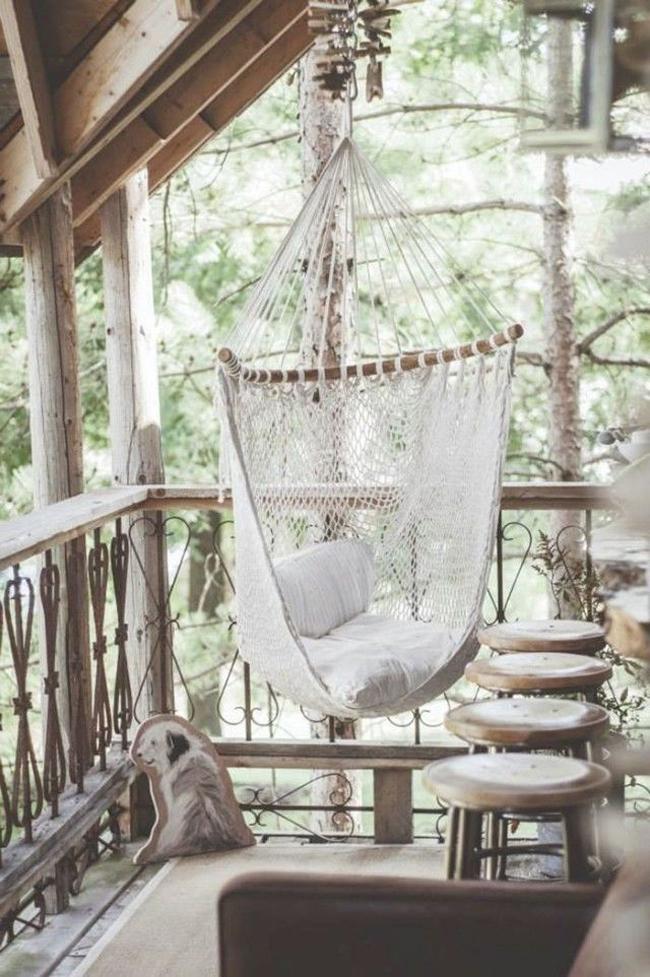 balcon avec hammac
