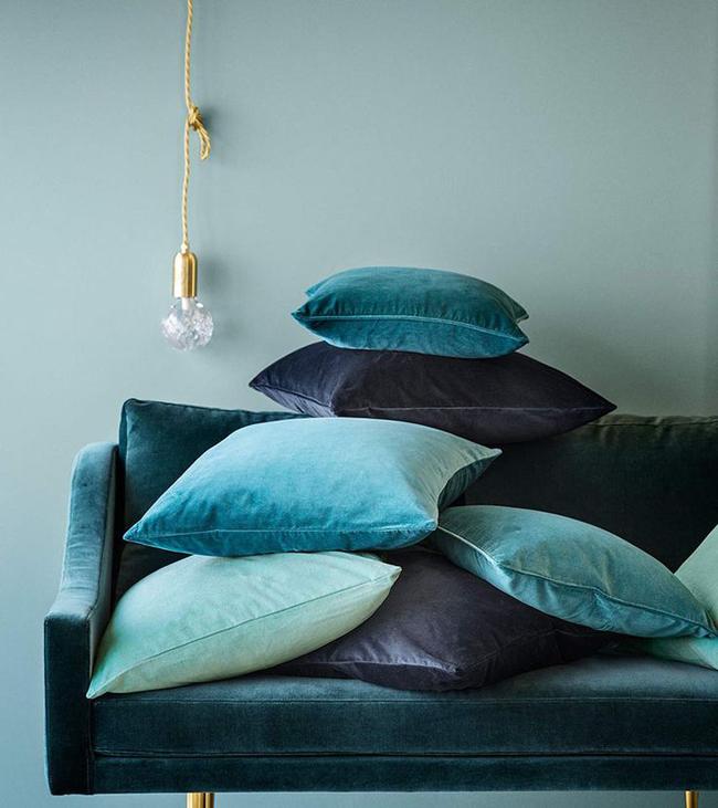 Coussins deco bleus for Decoration des coussins
