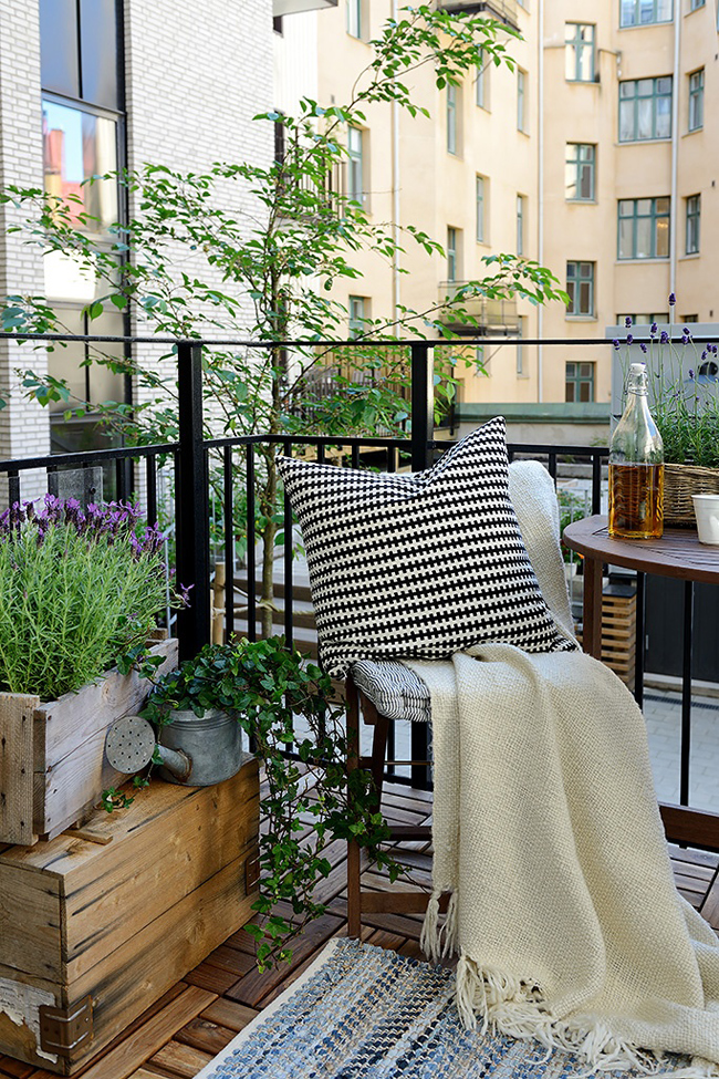 10 id es pour am nager un balcon for Decoration de balcon