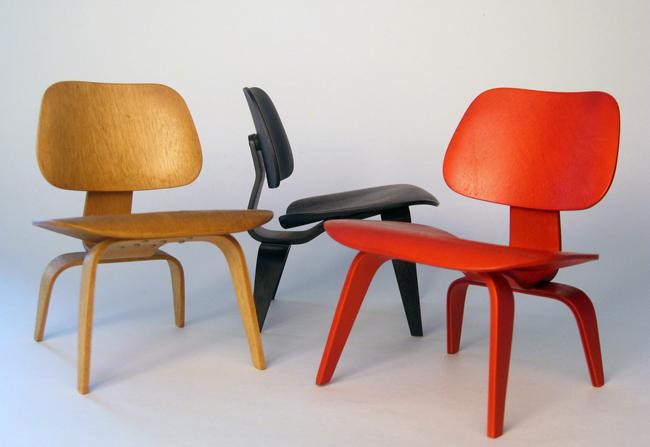 chaises eames lcw et dcw. Black Bedroom Furniture Sets. Home Design Ideas