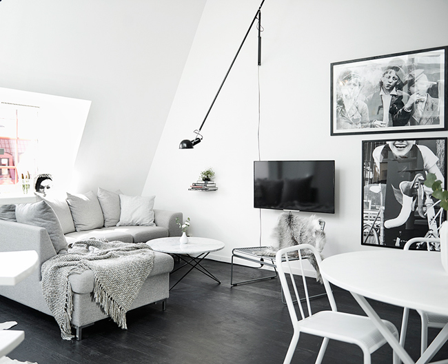 appartement mansard avec toit en verre. Black Bedroom Furniture Sets. Home Design Ideas