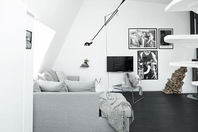 Appartement mansarde avec toit en verre 4