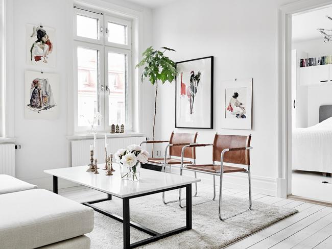 Decoration en noir et blanc