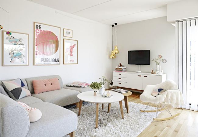Maison aux tons pastels for Deco maison neuve