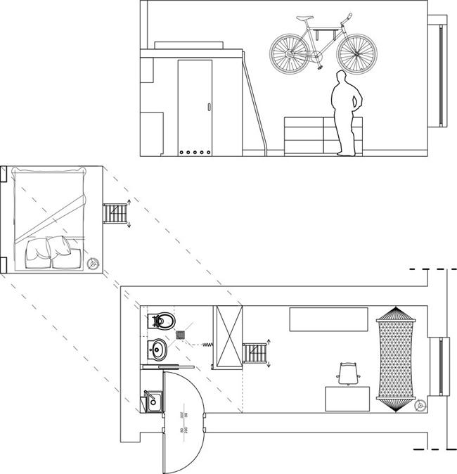 plan appartement 12 m2