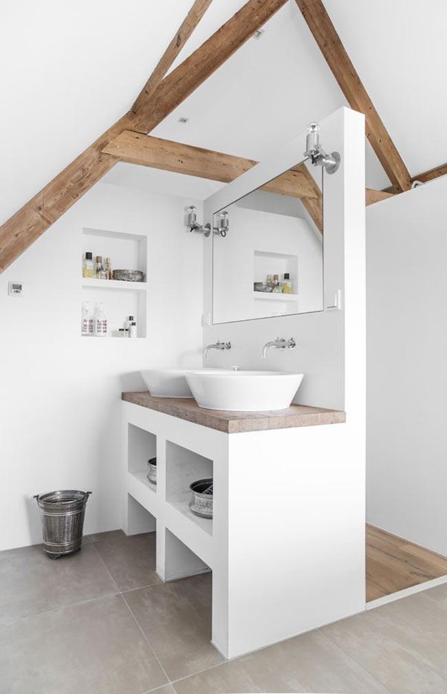 Salle de bain contemporaine for Plan pour amenager une salle de bain