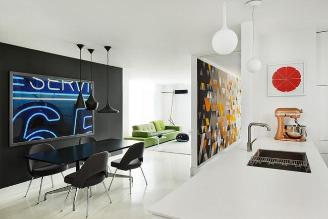 Appartement moderne et graphique