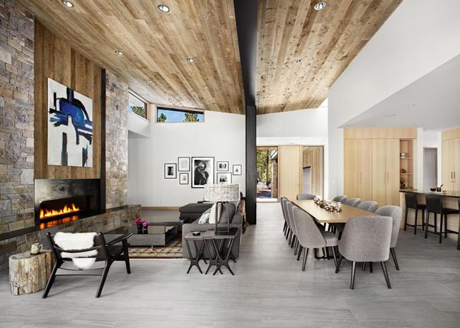 Maison fa on chalet contemporain - Deco chalet montagne contemporain ...