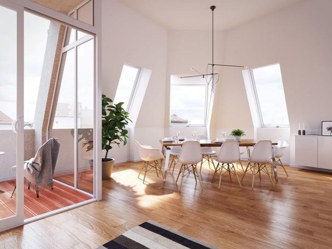 Projet d 39 appartement sous les toits for Appartement sous les toits