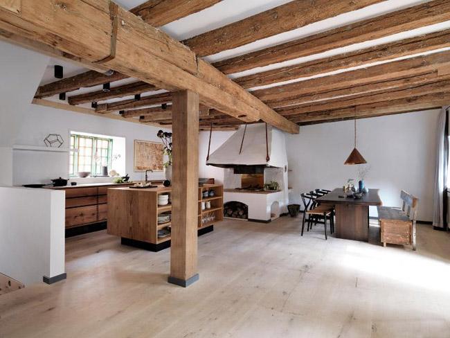 Chambre Bebe Ton Gris : Eeeeet, coup de coeur du jour pour cette cuisine moderne en bois !