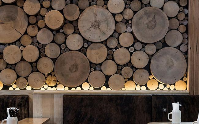 Mur d coratif en bois massif - Bois decoratif pour mur ...