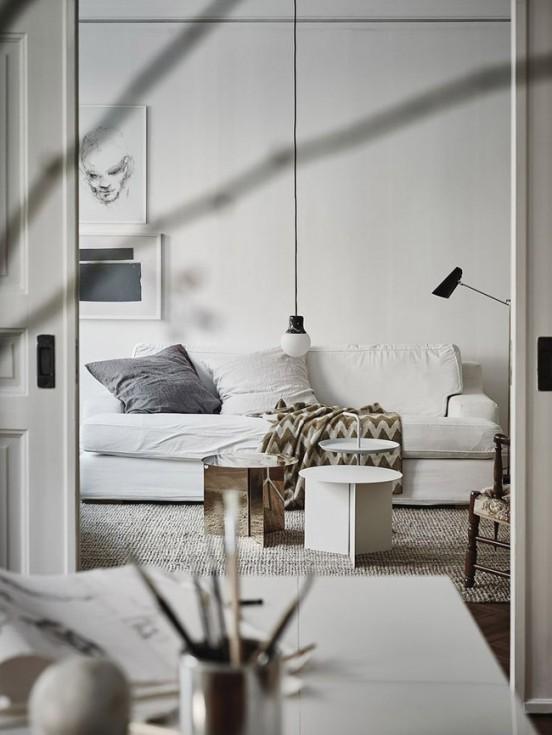 Salon decoration blanche