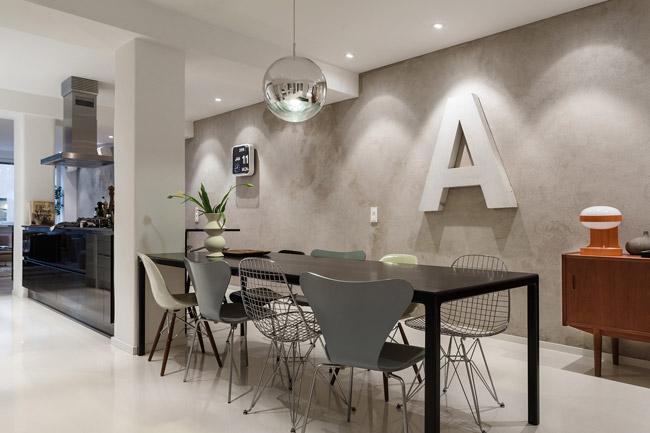 appartement avec un mur en b ton. Black Bedroom Furniture Sets. Home Design Ideas